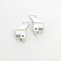 CNC Machined Precision Alum. Rear Hub Carriers (1 deg.) SC10/T4/B4 (Silver)