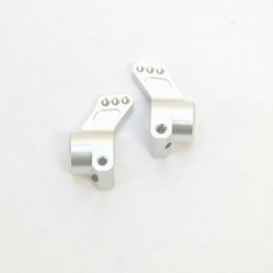 CNC Machined Precision Alum. Rear Hub Carriers (1 deg.) SC10/T4/B4 (Silver)