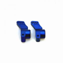 CNC Machined Precision Alum. Rear Hub Carriers (0 deg.) SC10/T4/B4 (Blue)