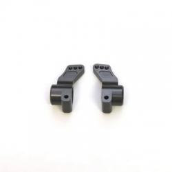 CNC Machined Precision Alum. Rear Hub Carriers (0 deg.) SC10/T4/B4 (Gun Metal, Limited)