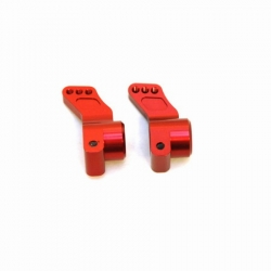 CNC Machined Precision Alum. Rear Hub Carriers (0 deg.) SC10/T4/B4 (Red)