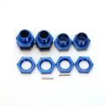CNC Machined Aluminum 17mm Hex conversion kit for Associated SC10 (Blue)