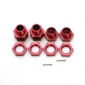 CNC Machined Aluminum 17mm Hex conversion kit for Associated SC10 (Red)