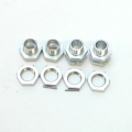 CNC Machined Aluminum 17mm Hex conversion kit for Associated SC10 (Silver)
