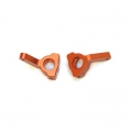 CNC Machined Aluminum Precision Steering Knuckle Blocks (1 pair) for Blitz, E-Firestorm (Orange)