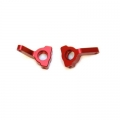 CNC Machined Aluminum Precision Steering Knuckle Blocks (1 pair) for Blitz, E-Firestorm (Red, Web only limited edition)