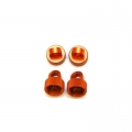 CNC Machined Aluminum HD Upper Shock Caps (4 pcs) for Blitz, E-Firestorm (Orange)