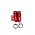 CNC Machined Threaded Aluminum Front Shock Set 1 pair (w/lower caps, O-Ring Collars) for Blitz, E-Firestorm. (Red, web only limited edition)