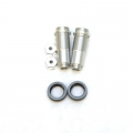 CNC Machined Threaded Aluminum Front Shock Set 1 pair (w/lower caps, O-Ring Collars) for Blitz, E-Firestorm. (Silver)