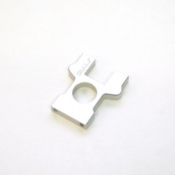 STRC CNC Machined Aluminum Center Diff Bulkhead (Silver, limited edition)