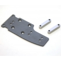 STRC Graphite Center Plate with Alum. Stand-offs (Gun Metal)