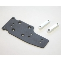 STRC Graphite Center Plate with Alum. Stand-offs (Silver, Limited Edition)