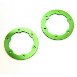 CNC Machined Aluminum LW Beadlock Rings for Proline Slash/Slayer Epic/Split Six Rims (1 pair) Green