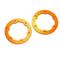CNC Machined Aluminum LW Beadlock Rings for Proline Slash/Slayer Epic/Split Six Rims (1 pair) Flash Orange
