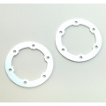 CNC Machined Aluminum LW Beadlock Rings for Proline Slash/Slayer Epic/Split Six Rims (1 pair) Racing Silver