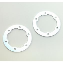 CNC Machined Aluminum LW Beadlock Rings for Proline Slash/Slayer Epic/Split Six Rims (1 pair) Racing Silver
