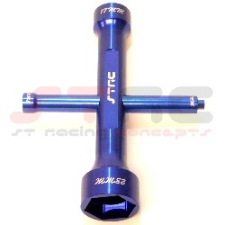 ST Racing Concepts Aluminum 17/23mm Wheel Wrench (blue)