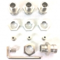 STRC CNC Machined Aluminum 17mm hex adatpers for Slash 4x4/Stampede 4x4/Rally (Silver)