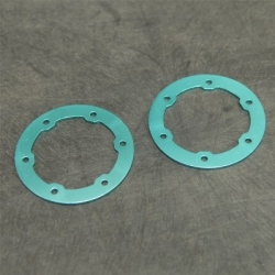 CNC Machined Aluminum LW Beadlock Rings for Proline Slash/Slayer Epic/split six Rims (1 pair) Light Blue
