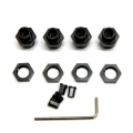 TRC CNC Machined Aluminum 17mm hex adatpers for Slash 4x4/Stampede 4x4/Rally (Black Limited)
