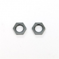 CNC Machined Alum. 17mm Hex adapter lock-nut (1 pair) Gun Metal