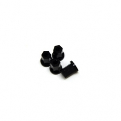 Replacement CNC Machined aluminum 17mm Hex Lock-nut (4 pcs) Black