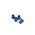 Replacement CNC Machined aluminum 17mm Hex Lock-nut (4 pcs) Blue
