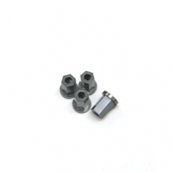 Replacement CNC Machined aluminum 17mm Hex Lock-nut (4 pcs) GM