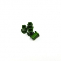 Replacement CNC Machined aluminum 17mm Hex Lock-nut (4 pcs) Green