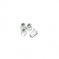 Replacement CNC Machined aluminum 17mm Hex Lock-nut (4 pcs) Silver