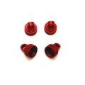 STRC Aluminum CNC Machined Upper shock caps (4 pcs) for Traxxas Vehicles (Red)