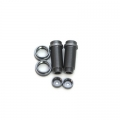 STRC CNC Machined Threaded Aluminum Front Shock Body Set 1 pair Slash 4x4 & Slash 2WD  (Gun Metal)