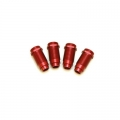 STRC CNC Machined Aluminum threaded shock bodies (4 pcs) Red