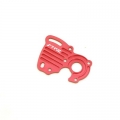 STRC CNC Machined Aluminum Motor Heat Sink Plate (Red)
