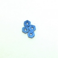 STRC CNC Machined Aluminum Hex Adapters (4 pcs) Blue
