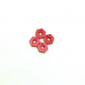 STRC CNC Machined Aluminum Hex Adapters (4 pcs) Red