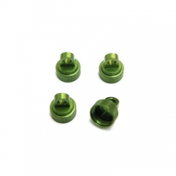 STRC Aluminum CNC Machined Upper shock caps (4 pcs) for Traxxas Vehicles (Green)