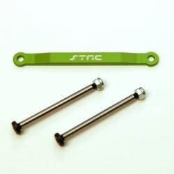 CNC Machined Alum. Front Hinge-pin brace kit (w/heat treated hinge-pins) for Stampede/Bigfoot/Rustler/Bandit/Slash 2wd (G)