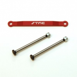CNC Machined Alum. Front Hinge-pin brace kit (w/heat treated hinge-pins) for Stampede/Bigfoot/Rustler/Bandit/Slash 2wd (R)