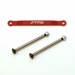 CNC Machined Alum. Front Hinge-pin brace kit (w/heat treated hinge-pins) for Stampede/Bigfoot/Rustler/Bandit/Slash 2wd (R)