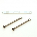 CNC Machined Alum. Front Hinge-pin brace kit (w/heat treated hinge-pins) for Stampede/Bigfoot/Rustler/Bandit/Slash 2wd (S)