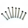 STRC Heat Treated Polished Steel Lock-Nut Style Hinge-Pin Kit for Traxxas Bandit/Drag Slash (2wd) Silver