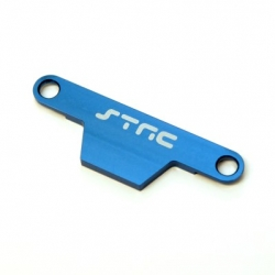 CNC Machined Alum. Batter hold-down Plate for Stampede/Bigfoot (Blue)