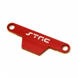 CNC Machined Alum. Batter hold-down Plate for Stampede/Bigfoot (Red)