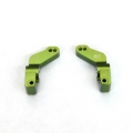CNC Machined Alum. 1 Deg. Toe-in Rear Hub Carriers for Traxxas Slash, Stampede VXL, Rustler VXL (Green)