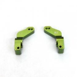 CNC Machined Alum. 1 Deg. Toe-in Rear Hub Carriers for Traxxas Slash, Stampede VXL, Rustler VXL (Green)