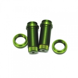 STRC CNC Machined Threaded Aluminum Front Shock Body Set 1 pair Slash 4x4 & Slash 2WD (Green)