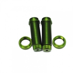 STRC CNC Machined Threaded Aluminum Rear Shock Body Set 1 pair Slash 4x4 & Slash 2WD  (Green)