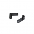 "CNC Machined Aluminum Rear Chassis ""L"" Brackets for Slash 2wd LCG conversion kit (Black) 1pair"