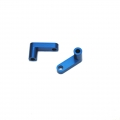 "CNC Machined Aluminum Rear Chassis ""L"" Brackets for Slash 2wd LCG conversion kit (Blue) 1 pair"